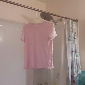 I'm selling a light pink striped girl shirt.